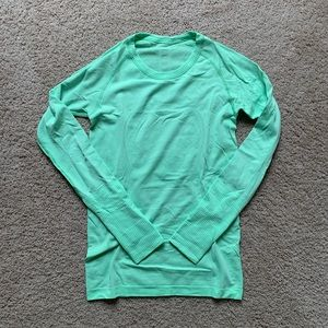 Lime green l/s top